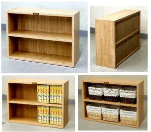 木製の棚(背板のあるタイプ) 高さ45 幅60 文庫本 木目 4.3kg[カントリー 45-60 ブック ...