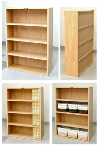 木製の棚(背板のあるタイプ)高さ90 幅60 文庫本 木目 7.6kg [カントリー 90-60 ブック ...