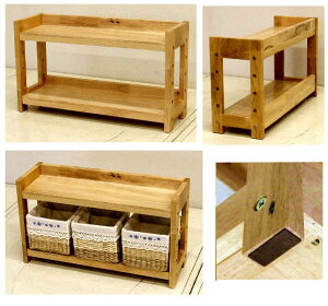 木製の棚(背板のないタイプ)ナチュラル色高さ34 幅59 奥行19 3.9kg[ミニシェルフ MS-3459]
