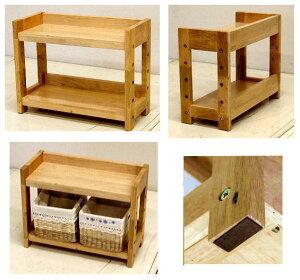木製の棚(背板のないタイプ)ナチュラル色高さ34 幅44 奥行19 3.2kg[ミニシェルフ MS-3444]
