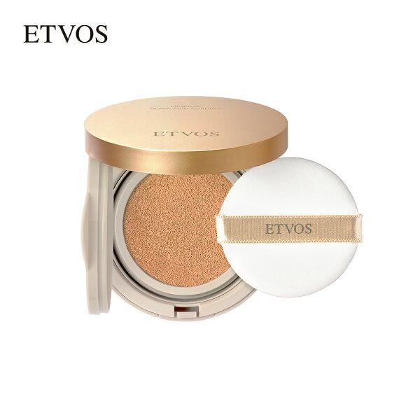 エトヴォス(ETVOS)みずみずしく使うほどナチュラルなツヤ肌へ導く「ミネラルグロウスキンクッション(ケース+パフ付)12gSP