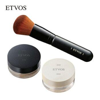 エトヴォス(ETVOS)ミネラルファンデーションスターターキットSPF30PA++ミネラルファンデお試しトライアル[ファンデーション化粧下地ブラシセット]敏感肌乾燥肌脂性肌混合肌毛穴カバー肌に優しいクレンジング不要石けんで落ちるミネラルメイク