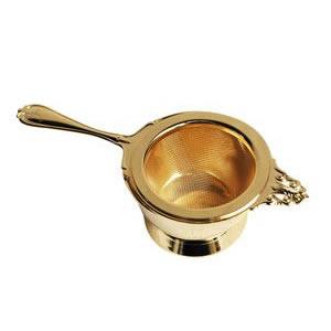 『ヌーブルティーストレーナー ゴールド (400829)』【日本製 ストレーナー 茶こし ティータイム 食器 紅茶 キッチン】