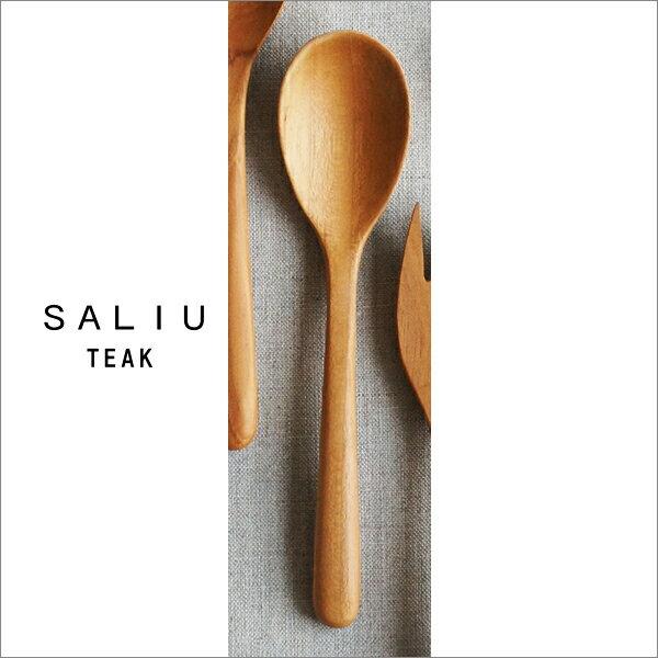 『ロロ SALIU サリュウ チーク テーブルスプーン』[LOLO]【スプーン カトラリー 木製 キッチン 雑貨】【メール便 (ゆうパケット) 対応】
