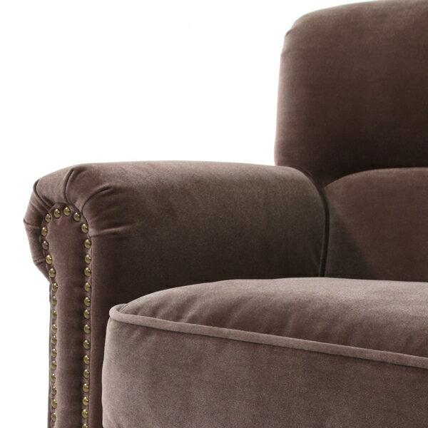 ヴィンセントシリーズグレーベルベットコンパクトシングルソファソファーアームチェア椅子一人掛け1人掛けファブリック布地高級アンティークヴィンテージビンテージレトロイギリス英国UKVN1F37K