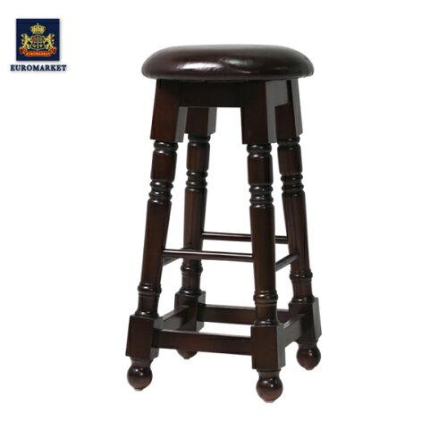 カウンターチェア(椅子) イギリス(英国)アンティーク家具調 木製 イギリス フランス アンティ...