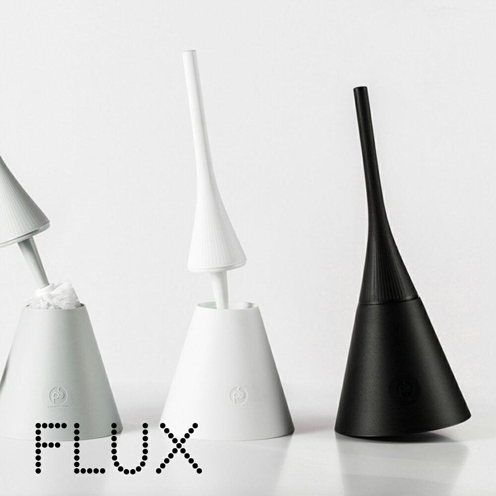FLUX フルックス かわいい おしゃれ トイレブラシ セット イタリア製 POS DESIGN トイレ ブラシ 使いやすい オシャレ 一体型 収納 丈夫 スリム