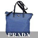 プラダ ショッピングバッグ PRADA ブルー B4696G F0JX2 【送料無料】