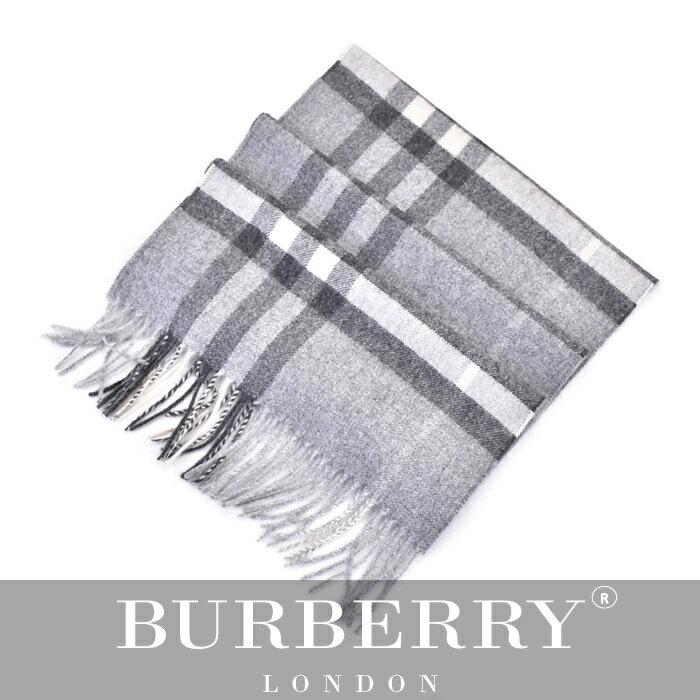 BURBERRY バーバリー マフラー グレー 3994165 0530B:サンエー 世界の一流品