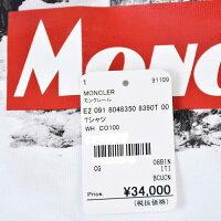 モンクレール Tシャツ カットソー MONCLER E2 091 8048350 8390T 001 ホワイト メンズ ラスト1点