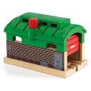 BRIO ブリオ レールウェイ追加アクセサリー 列車車庫〜BRIOのレールウェイの追加アクセサリーです。たくさん働いた列車を格納する列車車庫です。1ピース。【誕生日プレゼント 1歳半 2歳 3歳 男の子 木のおもちゃ 知育玩具 クリスマス 子供】