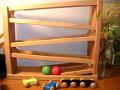木製スロープトイ,木のおもちゃ,木製玩具,ボールころがし,車