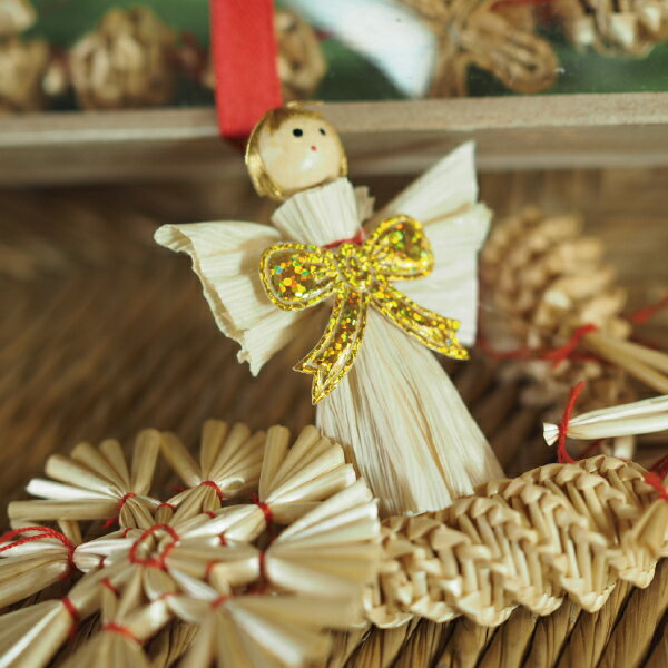 Kimmerle(キマール)『クリスマスストローオーナメント&ガーランドセット』