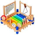 ミュージックステーション,楽器玩具,子供用楽器,子供楽器,木琴,太鼓,マラカス,I'm,Toy,アイムトイ