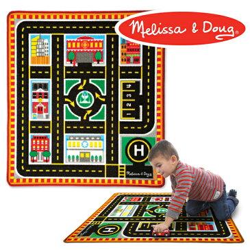 Melissa & Doug メリッサ&ダグ アクティビティラグ レスキュー〜アメリカの大手玩具メーカーMelissa & Doug(メリッサ&ダグ)のミニカーがセットのごっこ遊びができるラグマットです。