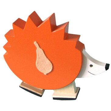 DIHRAS ディラス社 動物の滑り台 カタカタ はりねずみ カラー〜チェコ製の癒しの木製玩具。可愛らしいハリネズミが滑り台をゆっくりトコトコ歩くスロープトイです。ヒーリングトイとしても人気です♪