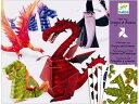 【DJ09673】[DJECO ジェコ]ペーパートイ ドラゴンアンドシャーマン?フランスのおもちゃメー...