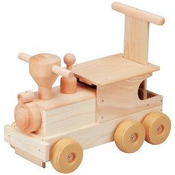 平和工業 Mocco モッコ 森の機関車〜日本製の木のおもちゃMocco(モッコ)シリーズ。手押し車としても使えるビッグサイズの汽車の木製足けり乗用玩具です。