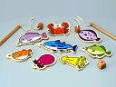 [メール便可] 平和工業 さかなつり?磁石の付いた竿で魚を釣る、木製の魚釣りゲームです。釣りさおは2本なので2人で遊べます。