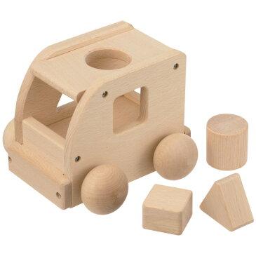 平和工業 Mocco モッコ 森のメロディーバス(スモールワールド)〜日本製の木のおもちゃMocco(モッコ)シリーズ。メロディーカーにパズルを組み合わせた『メロディーパズルカー』です。