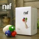 Naef ネフ社 ティキ Tiki〜手の小さい日本の赤ちゃんの為に特別にデザインされたスイス・Naef(ネフ社)の木製おしゃぶりラトル(ガラガラ)「ティキ」です。