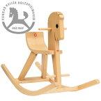 Konrad Keller ケラー社 木馬のペーター 白木〜ペーターの愛称を持つドイツのおもちゃメーカーKonrad Keller(ケラー社)の人気の木馬(ロッキングホース)です。ケラー社のロゴマークの木馬です。