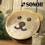 SONOR ゾノア社 くまタンバリン〜ドイツ有数の打楽器メーカーSONOR(ゾノア社)の幼児楽器「オルフシリーズ」。初めて与える楽器こそ高品質であってほしいとの思いで開発されたTOY SOUNDシリーズのタンバリンです。