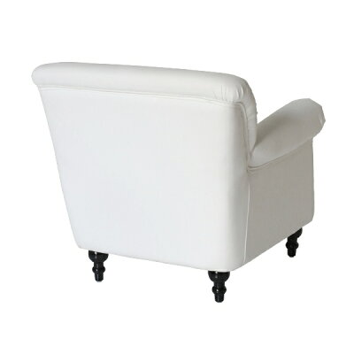 ホワイトレザーコンパクトシングルソファソファー一人掛け1人掛け椅子チェアクッションビニールレザーソフトレザーPUレザー合皮本革調白色アンティークヴィンテージビンテージレトロイギリス英国UKVN1P3K