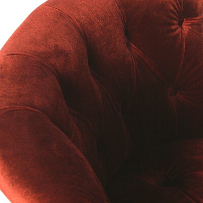 ラムズゲイトシングルチェア椅子ソファボタンアンティークナチュラルヴィンテージビンテージレトロフランスヨーロッパ北欧おしゃれかわいいかっこいいレッド赤色高級プリンセス姫姫系ベルベットファブリック布地RM1F41K