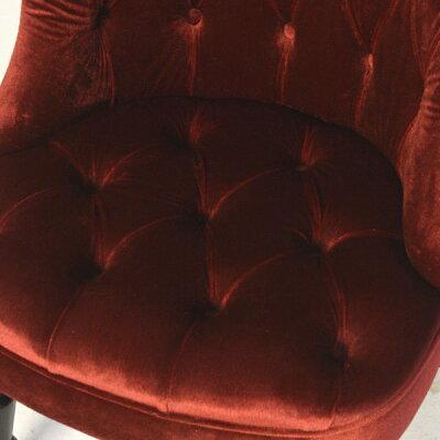 ラムズゲイトチェアシングル椅子ソファボタンアンティークナチュラルヴィンテージビンテージレトロフランスヨーロッパ北欧おしゃれかわいいかっこいいレッド赤色高級プリンセス姫姫系ベルベットファブリック布地RM1F41K
