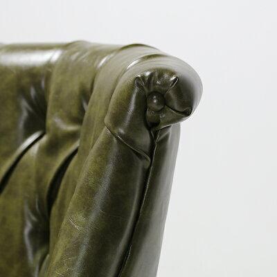 オリーブPUレザーラムズゲイトラブソファソファーチェアチェアー椅子イス二人掛け2人掛け2シーター2pビニールレザーPUレザー合成皮革本革調緑色レンガ色アンティークヴィンテージビンテージレトロイギリス英国ボタンコンパクト店舗用品RM2P36K