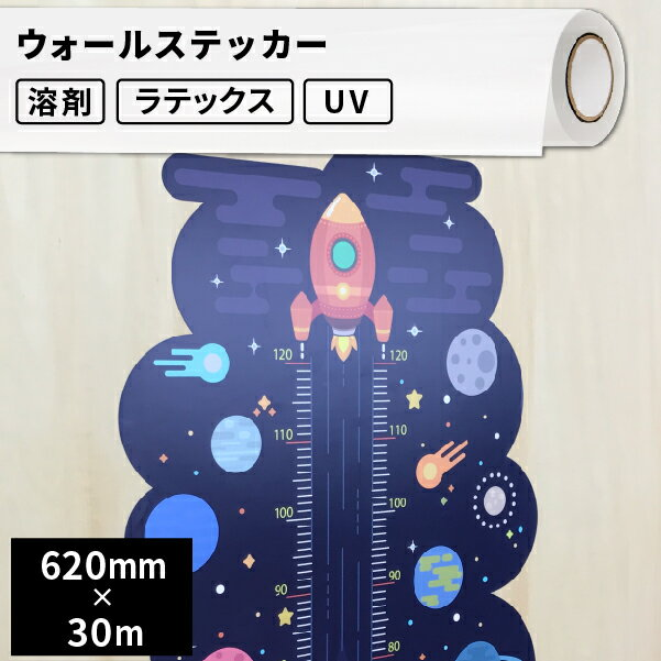 インクジェットメディア 屋内用 ウォールステッカー 62cm×30mロール 【SIJ-WS01-HL】