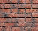 【ニューブリック アンティークレッド:フラット】セメント系壁面ブリックタイル