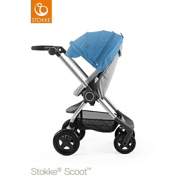 【STOKKEストッケ正規販売店】Stokke Scoot2ストッケ 新スクート2セットベーシックキット(グレーメラーンジ) +キャノピー(ブルー)