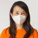 ひんやり冷感マスク(大人用) 3枚入り ホワイト / 夏用 立体マスク 洗える 耳が痛くならない クールマスク 繰り返し使える 花粉 風邪 /メール便可/動画有