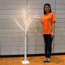 クリスマスイルミネーション LED付白樺ツリー H180cm [大型商品160cm以上]/動画有
