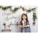 セットでお得 撮影用背景 Happy Birthday シャビーハウスと数字バルーンとハンドポンプ ...