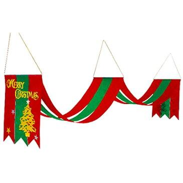 クリスマス装飾 クリスマスペナント 2連スターツリー L160cm