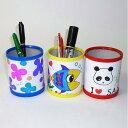 お絵かき工作キット ペン立て作り 3色アソート(50個) / 手作り 色塗り おえかき