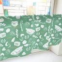 カーテン パン 緑 1000w1000×h450mmポンジ 格安 既製品 トイレ 目隠し 出窓