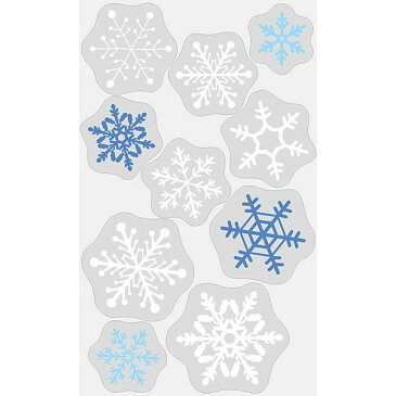 [送料無料] クリスマス装飾 貼ってはがせる壁/窓用シール ウィンドウステッカー雪の結晶 H100×W60cm [北海道 沖縄 離島への配送不可]