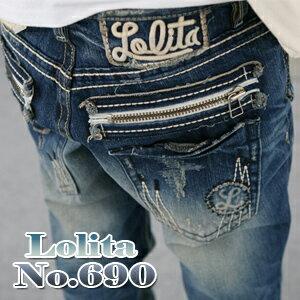 ヴィンテージウォッシュ加工&ゆったりとしたボーイフレンドデニム LolitaJeans...