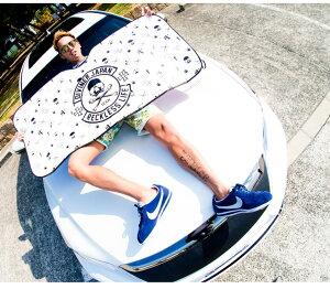 サンシェードサンシェイド車カー用品日よけカーサンシェードフロント車遮光スカル髑髏ブランドロゴ夏かわいいDIVINERワンタッチフロントガラスシートカバーステッカーJOKER