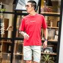 【送料無料】Tシャツ メンズ プリント 半袖Tシャツ 半袖 ロゴ プリントTシャツ 切替 ビッグシルエット オーバーサイズ ビック ストリート レッド ホワイト ブラック 白 黒 お兄系 オラオラ系 BITTER ビター系 JOKER ジョーカー