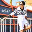 ◆送料無料◆セットアップ メンズ スウェット 星柄 上下 パーカー ハーフパンツ ショートパンツ ショーツ 星条旗 星柄 スター ブラック 黒 白 ホワイト オフホワイト ネイビー 夏 夏服 夏物 サーフ系 お兄系 オラオラ系 BITTER JOKER ジョーカー