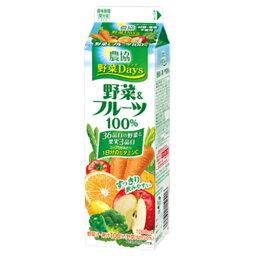 雪印メグミルク 農協 野菜Days 野菜&フルーツ100% 1000ml×6個 【冷蔵】