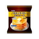 日本製粉 国産小麦100%ホットケーキ 200g(4枚) ×12袋(送料無料)(冷凍食品)/国産小麦100%使用 /しっとり食感 /オーブン調理 /レンジ調理