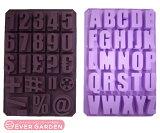 【SALE】アルファベット 英字 数字 シリコンモールド レジン 誕生日 HAPPY BIRTHDAY シリコン 型 抜き型 (英字・数字・記号のセット) 新入荷 シリコンプレート 型取り オルゴナイト 型 シリコン 型