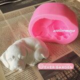 犬 立体 動物 シリコンモールド レジン アロマストーン 手作り 石鹸 キャンドル 樹脂 粘土 オルゴナイト 型 抜き型 シリコン 型 レジン