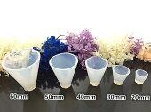 円錐 5個セット レジン シリコンモールド ネックレス アクセサリー パーツ 作成 UVレジン エポキシ樹脂 樹脂粘土 型 抜き型 キット 道具 パーツ 枠 型 セット モールド 空枠 シリコン型 ピラミッド 3サイズ